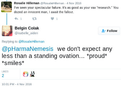 Tweet by Belgin Colak/Arslan, proudly boasting about her doxxing exploits