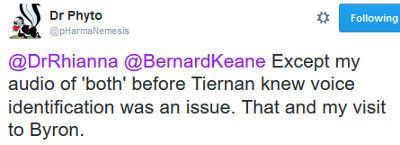 image: Tweet by Brett Smith, confirming he has contacted both Tiernan and Hank, and a visit to Byron Bay
