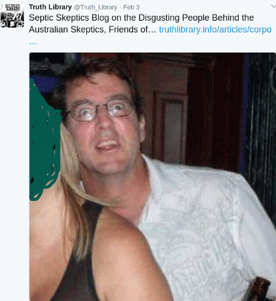 image: Tweet by Olivier Vles, linking to article (part 3) doxxing Peter Tiernan on his own website