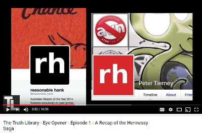 image: excerpt of YouTube page featuring video by Olivier Vles which alleges Peter Tiernan is Hank