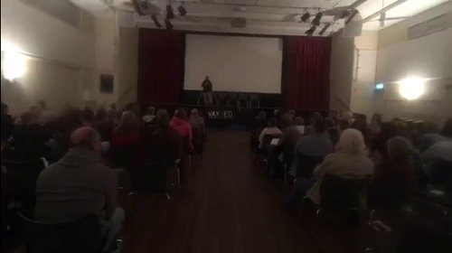 image: audience at the Maleny screening of Vaxxed, 23 July 2017