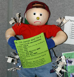 image of doll stuck with needles